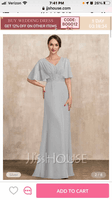 V-neck Floor-Length Chiffon Mother of the Bride Dress With Lace Sequins (267235319)