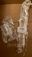 Alloy Combs & Barrettes With Rhinestone (Sold in single piece) (042133249)