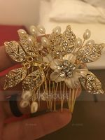 Ladies Amazing Alloy Combs & Barrettes With Venetian Pearl (042156426)