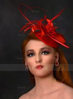 Ladies' Elegant Feather/Tulle/Linen With Feather Fascinators/Tea Party Hats (196105121)