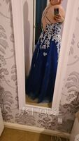 Ball-Gown/Princess Square Neckline Floor-Length Tulle Evening Dress With Lace Sequins (017230689)