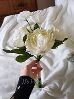 Lovely Free-Form Fabric Bridesmaid Bouquets/Decorations - (123114776)