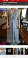 A-Line/Princess V-neck Floor-Length Chiffon Lace Bridesmaid Dress With Ruffle (266183764)
