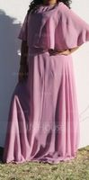 A-Line/Princess Scoop Neck Floor-Length Chiffon Junior Bridesmaid Dress (009130658)