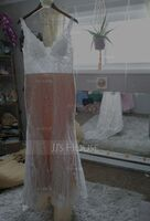 Trumpet/Mermaid V-neck Court Train Tulle Lace Wedding Dress (002250170)