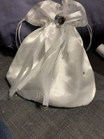 Charming Satin/Crystal/ Rhinestone Bridal Purse/Flower Girl Bags (012073918)