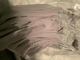 A-Line Scoop Neck Asymmetrical Chiffon Evening Dress With Beading Sequins (017209162)