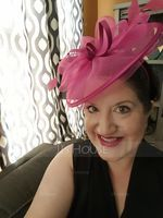 Senhoras Lovely Cambraia com Pena Fascinators/Kentucky Derby Bonés (196163119)