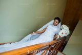 Trumpet/Mermaid High Neck Cathedral Train Organza Lace Wedding Dress With Beading Sequins (002055081)