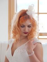Ladies' Simple Cambric/Feather/Tulle With Feather Fascinators/Tea Party Hats (196105064)