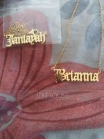 Custom 18k Gold Plated Old English Name Necklace - Birthday Gifts (288217716)