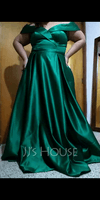 A-Line Off-the-Shoulder Floor-Length Satin Bridesmaid Dress With Pockets (007206488)