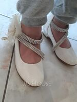 Girl's Closed Toe Leatherette Flower Girl Shoes With Flower (207216307)