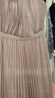 Scoop Neck Sweep Train Chiffon Evening Dress With Bow(s) Pleated (271197804)