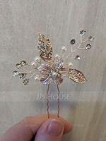 Ladies Pretty Rhinestone/Alloy/Imitation Pearls Hairpins With Rhinestone (042172322)