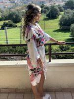 Silk Bride Bridesmaid Floral Robes Glitter Print Robes (248176110)