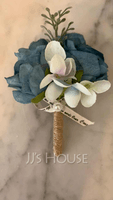 Classic Free-Form Silk Flower Boutonniere - Boutonniere (123225472)