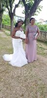A-Line Scoop Neck Floor-Length Chiffon Lace Mother of the Bride Dress (008252071)