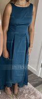 Scoop Neck Asymmetrical Satin Bridesmaid Dress With Pockets (266224332)