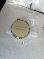 Personalized Round Chrome Compact Mirror (Sold in a single piece) (118120904)