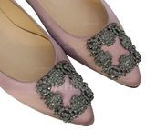 Women's Suede Flat Heel Flats Closed Toe With Rhinestone Buckle shoes (086173046)