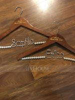 Bridesmaid Gifts - Personalized Beautiful Wooden Hanger (256184508)