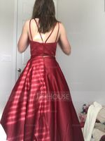 Ball-Gown Sweetheart Floor-Length Satin Prom Dresses (272177493)