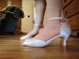 Women's Silk Like Satin Stiletto Heel Pumps With Imitation Pearl (047163628)
