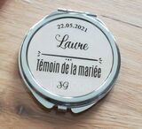 Bridesmaid Gifts - Personalized Elegant Special Eye-catching Stainless Steel Compact Mirror (256200568)