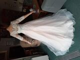 Ball-Gown/Princess Scoop Neck Sweep Train Tulle Lace Wedding Dress (002250171)