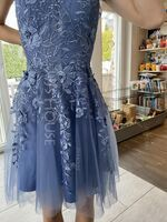 A-Line V-neck Short/Mini Tulle Homecoming Dress (300244257)