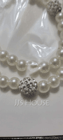 Gorgeous With Imitation Pearls Ladies' Jewelry Sets (011069549)
