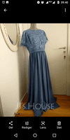 A-Line Scoop Neck Floor-Length Chiffon Lace Mother of the Bride Dress With Sequins (008252055)