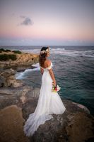 Trumpet/Mermaid Off-the-Shoulder Court Train Chiffon Lace Wedding Dress With Beading Sequins (265193276)