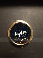 Bridesmaid Gifts - Personalized Cute Special Eye-catching Stainless Steel Compact Mirror (256200558)