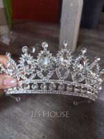 Ladies Special Rhinestone/Alloy Tiaras With Rhinestone (Sold in single piece) (042172289)
