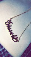Custom 18k Gold Plated Carrie Name Necklace - Birthday Gifts Mother's Day Gifts (288219229)