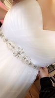 Elegant Satin Sash With Rhinestones (015080758)