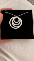 Custom Silver Engraving/Engraved Family Four Circle Necklace With Kids Names - Birthday Gifts Mother's Day Gifts (288215485)