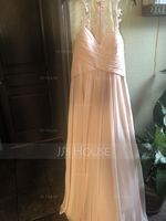 A-Line/Princess Sweetheart Floor-Length Prom Dresses With Ruffle (018112656)