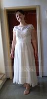 A-Line Scoop Neck Asymmetrical Chiffon Lace Mother of the Bride Dress (008164106)