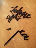 Personalized Bride And Groom Acrylic Cake Topper (118251112)