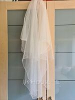 Two-tier Elbow Bridal Veils With Beaded Edge (006036615)
