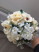 Free-Form Satin Bridal Bouquets - (123132727)