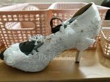 Women's Leatherette Stiletto Heel Peep Toe Pumps With Beading Stitching Lace (047153514)