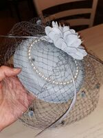Dames Beau Feather/Fil net/Fleur en soie/Velours Chapeaux de type fascinator/Chapeaux Tea Party (196152910)