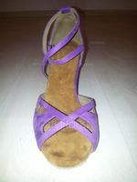 Women's Suede Heels Sandals Pumps Latin Dance Shoes (053095735)