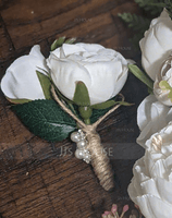 Hand-tied Silk Flower Boutonniere (Sold in a single piece) - Boutonniere (123182673)