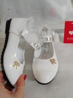 Girl's Closed Toe Leatherette Flat Heel Flats With Bowknot Rhinestone Satin Flower Ruched (207112563)