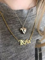 Custom 18k Gold Plated Old English Name Necklace - Birthday Gifts Mother's Day Gifts (288217716)